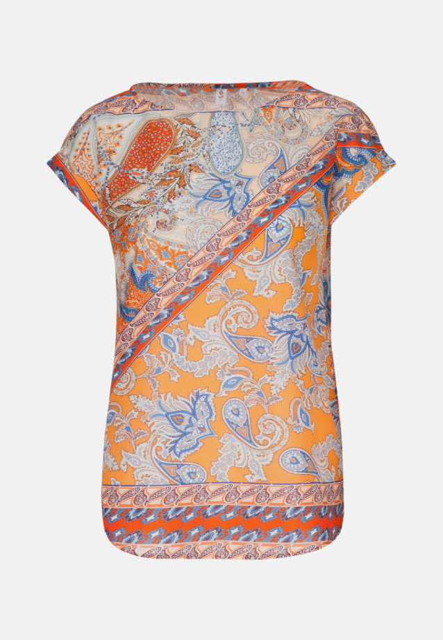 Ärmellose Voile Shirtbluse aus 100% Baumwolle in Orange |  Seidensticker Onlineshop