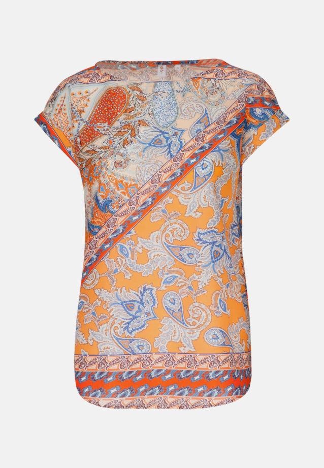Sleeveless Voile Shirt Blouse made of 100% Cotton in Orange |  Seidensticker Onlineshop