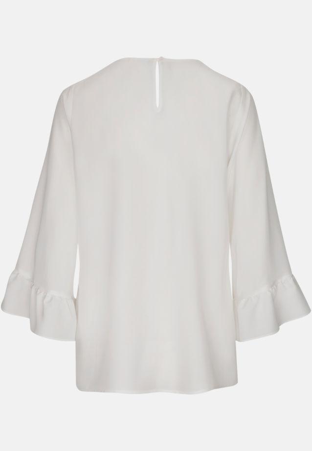 3/4 Arm Voile Shirtbluse aus 100% Viskose in Weiß |  Seidensticker Onlineshop