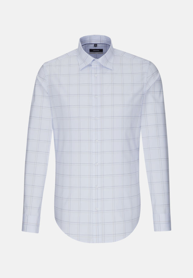 Non-iron Poplin Business Shirt in X-Slim with Covered-Button-Down-Collar in Light blue |  Seidensticker Onlineshop