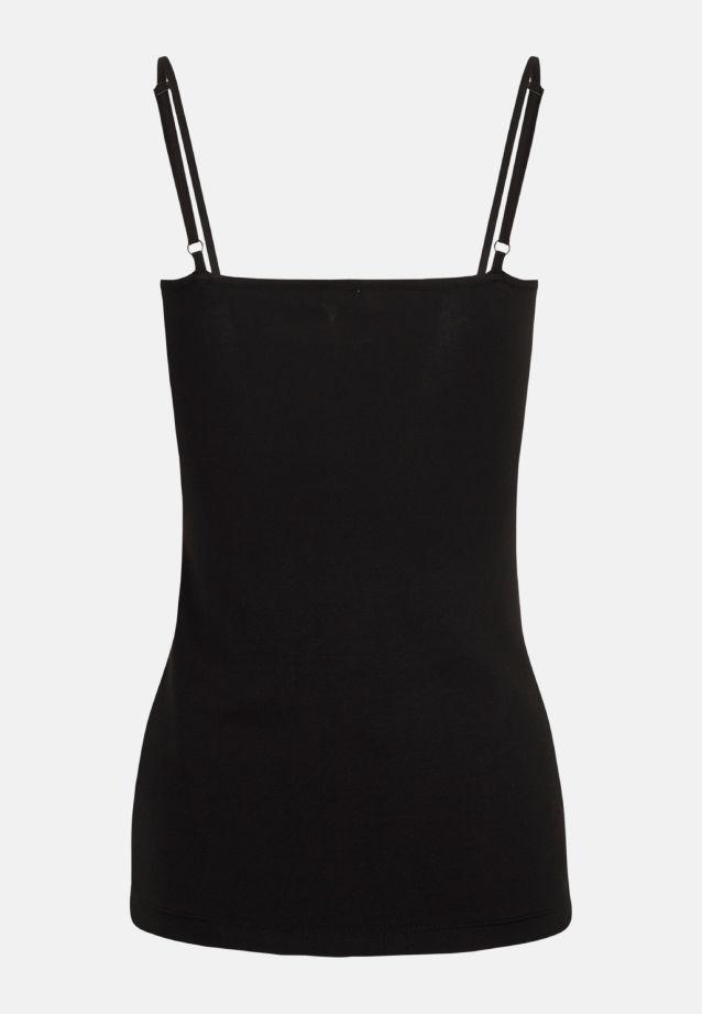 Sleeveless Jersey Top made of 94% Cotton 6% Elastane in Black |  Seidensticker Onlineshop