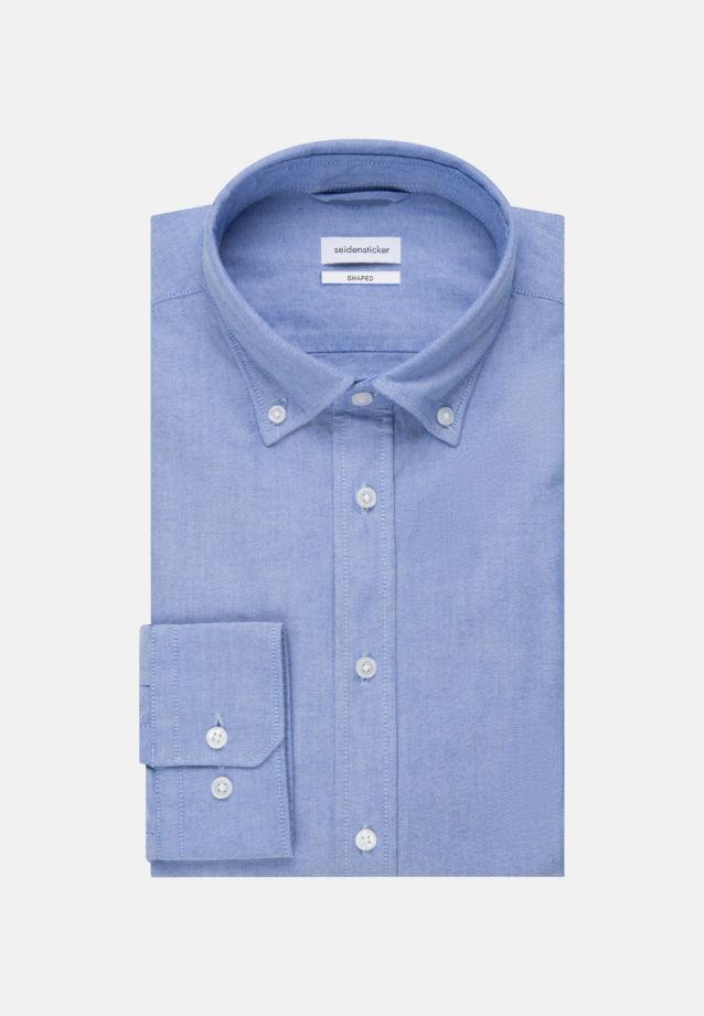 Bügelleichtes Oxford Business Hemd in Shaped mit Button-Down-Kragen in Hellblau    Seidensticker Onlineshop