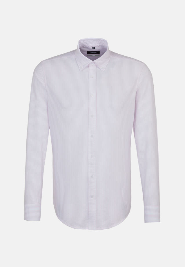 Easy-iron Oxford Business Shirt in X-Slim with Button-Down-Collar in rosé |  Seidensticker Onlineshop
