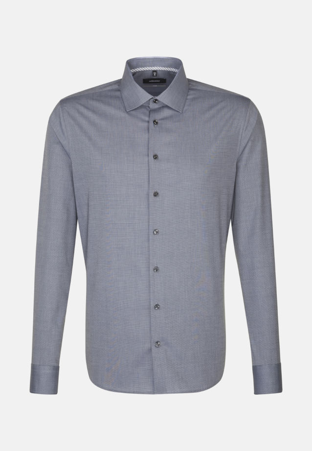 Bügelfreies Fil a fil Business Hemd in X-Slim mit Kentkragen in Grau |  Seidensticker Onlineshop