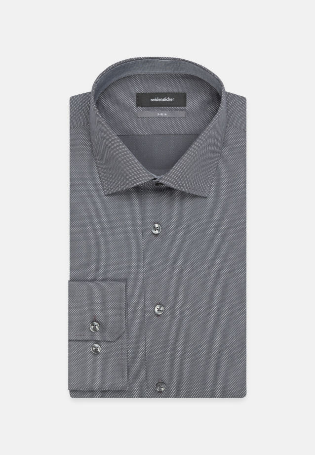 Easy-iron Poplin Business Shirt in X-Slim with Kent-Collar in grau |  Seidensticker Onlineshop