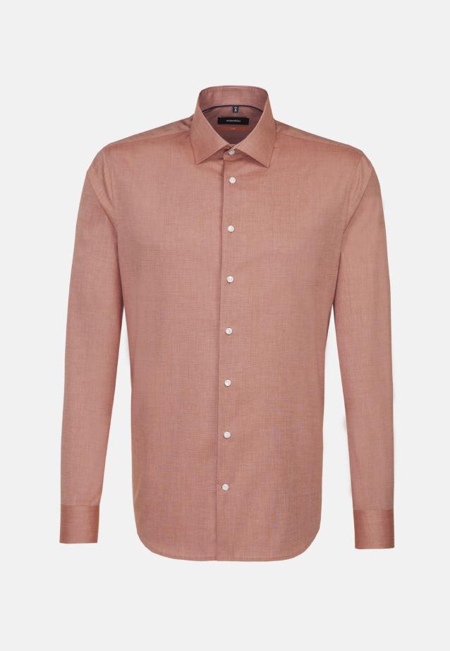 Bügelfreies Fil a fil Business Hemd in Slim mit Kentkragen in Orange |  Seidensticker Onlineshop