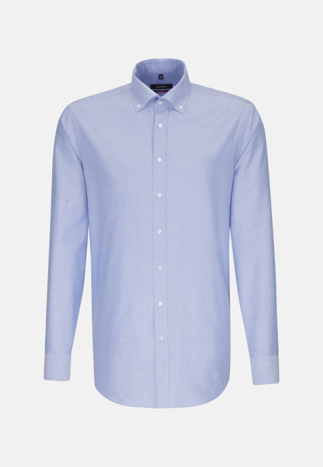 Bügelleichtes Oxford Business Hemd in Regular mit Button-Down-Kragen in Hellblau |  Seidensticker Onlineshop