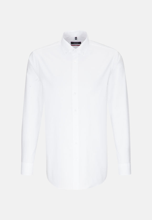 Easy-iron Oxford Business Shirt in Regular with Button-Down-Collar in White |  Seidensticker Onlineshop