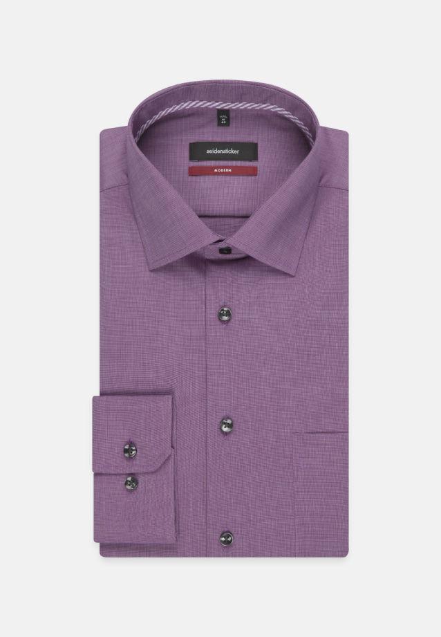 Bügelfreies Fil a fil Business Hemd in Modern mit Kentkragen in Lila |  Seidensticker Onlineshop