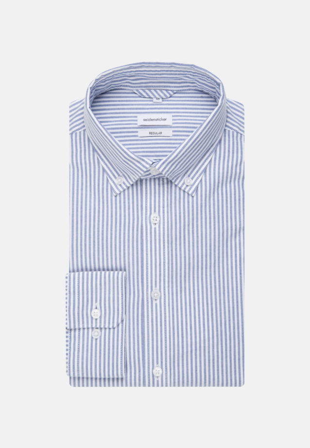 Easy-iron Oxford Business Shirt in Regular with Button-Down-Collar in Light blue |  Seidensticker Onlineshop