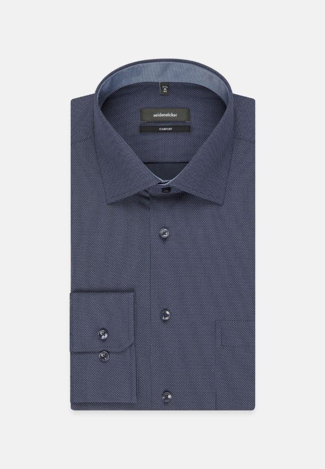 Bügelleichtes Popeline Business Hemd in Comfort mit Kentkragen in Mittelblau |  Seidensticker Onlineshop