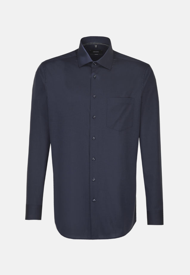 Bügelfreies Fil a fil Business Hemd in Comfort mit Kentkragen in dunkelgrau    Seidensticker Onlineshop