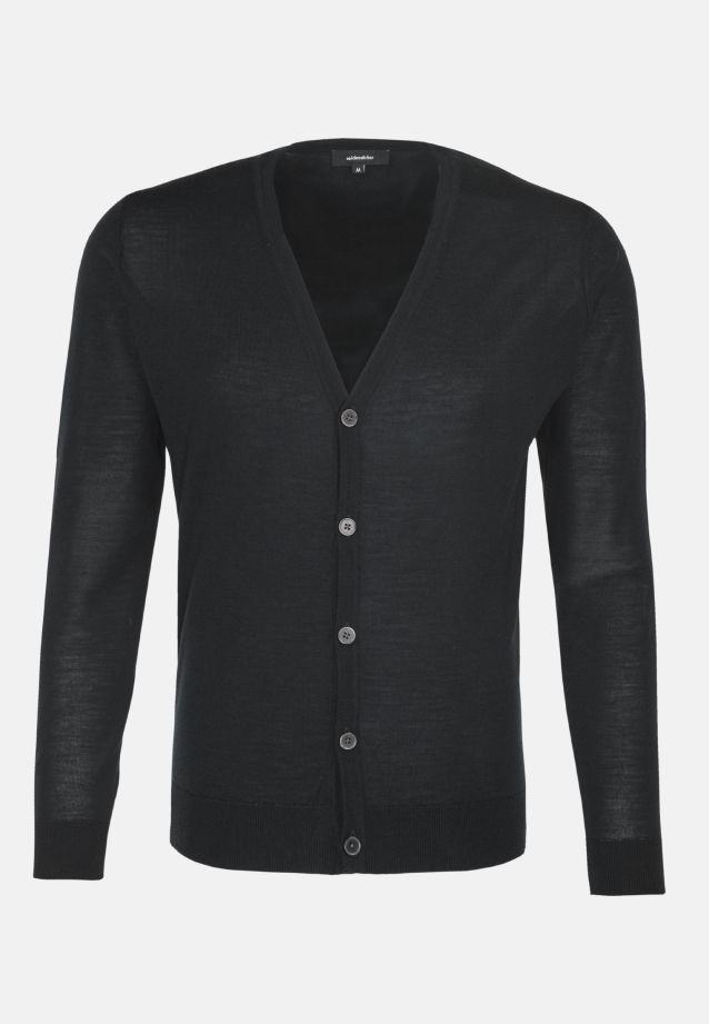 V-Neck Cardigan made of 100% Wool in Grey |  Seidensticker Onlineshop