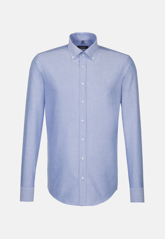 Easy-iron Oxford Business Shirt in X-Slim with Button-Down-Collar in Light blue |  Seidensticker Onlineshop