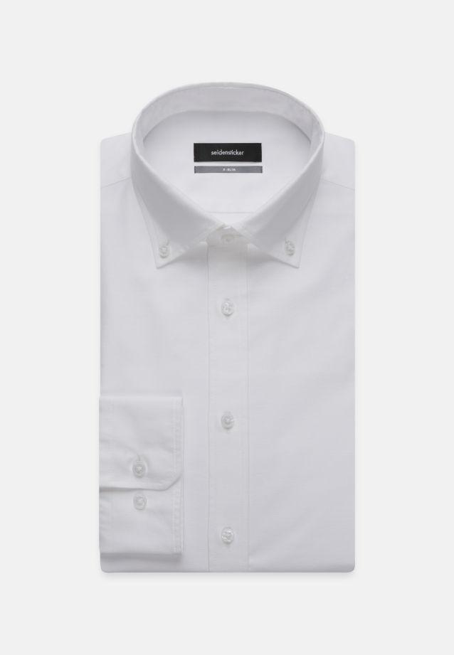 Bügelleichtes Oxford Business Hemd in X-Slim mit Button-Down-Kragen in Weiß |  Seidensticker Onlineshop