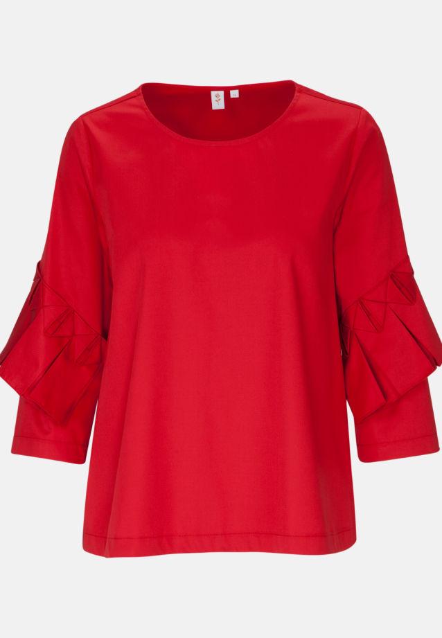 3/4 arm Satin Shirt Blouse made of 97% Cotton 3% Elastane in dunkelrot    Seidensticker Onlineshop