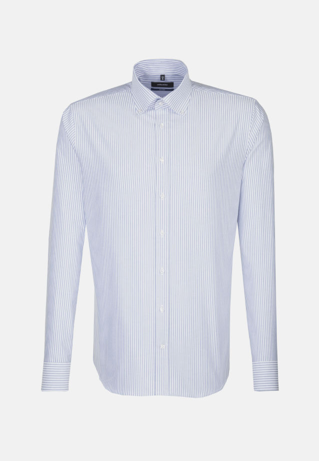 Bügelleichtes Oxford Business Hemd in Tailored mit Button-Down-Kragen in blau |  Seidensticker Onlineshop