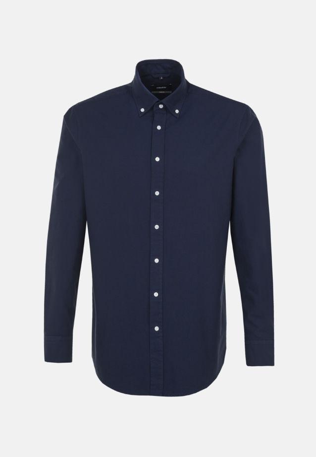 Easy-iron Oxford Business Shirt in Comfort with Button-Down-Collar in Dunkelblau |  Seidensticker Onlineshop