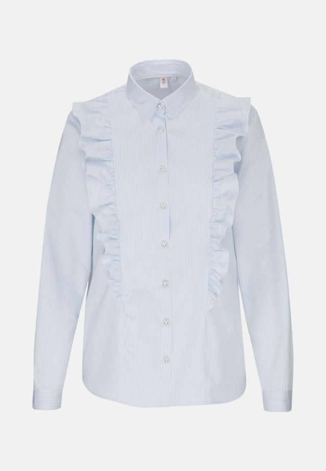 Poplin Ruched Blouse made of 100% Cotton in Light blue |  Seidensticker Onlineshop