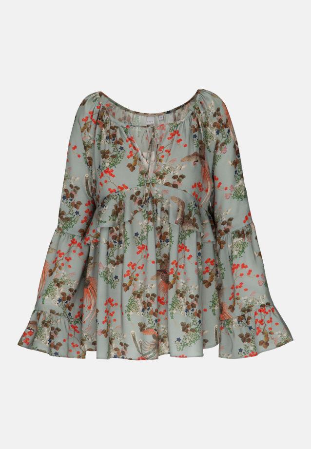 Velours Shirtbluse aus 100% Viskose in Grün    Seidensticker Onlineshop