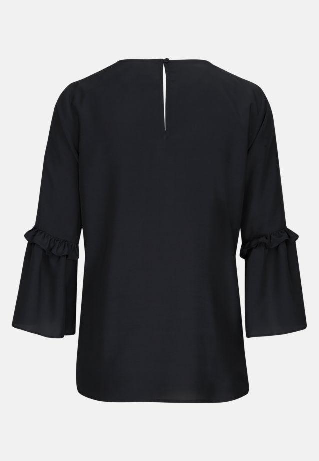 3/4 Arm Voile Shirtbluse aus 100% Viskose in Schwarz |  Seidensticker Onlineshop