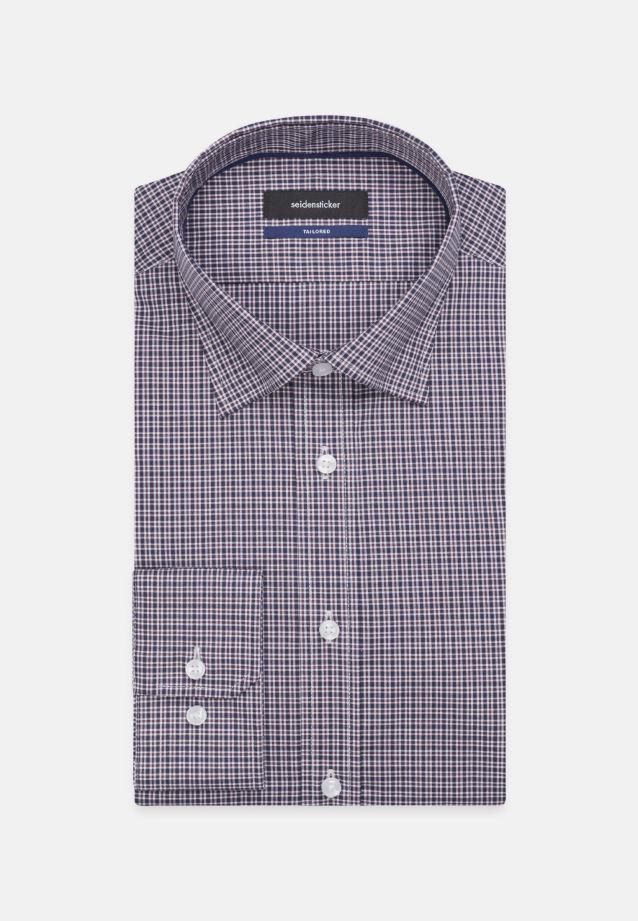 Bügelfreies Popeline Business Hemd in Tailored mit Covered-Button-Down-Kragen in blau |  Seidensticker Onlineshop