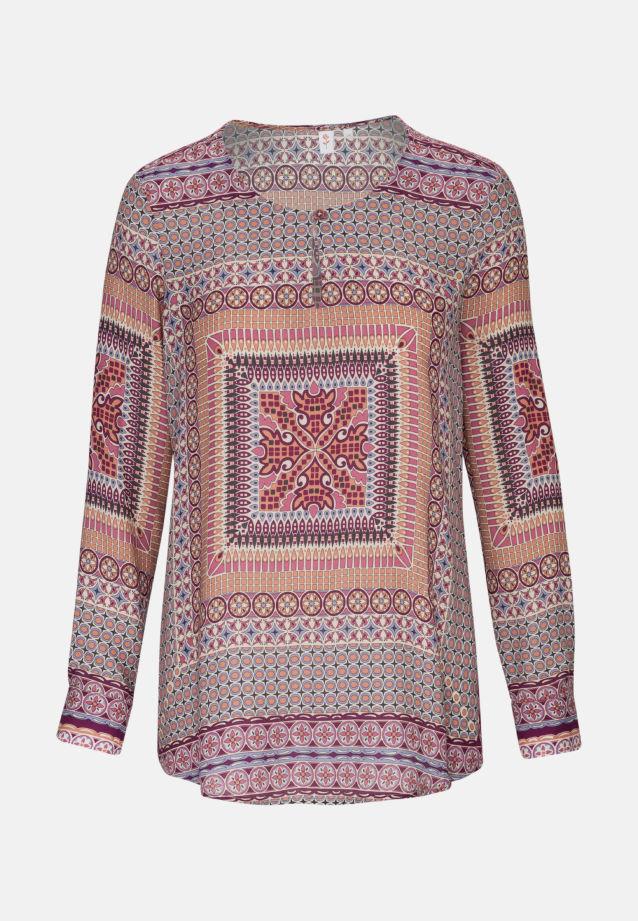 Satin Shirtbluse aus 100% Viskose in Rot    Seidensticker Onlineshop