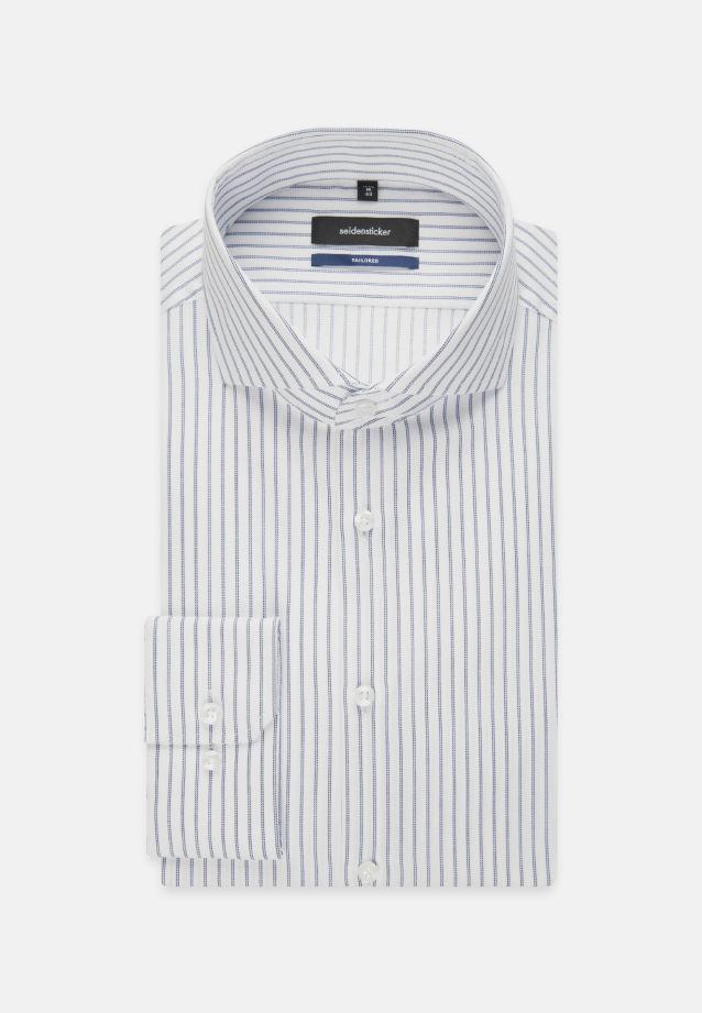 Bügelfreies Twill Business Hemd in Tailored mit Haifischkragen in Hellblau |  Seidensticker Onlineshop