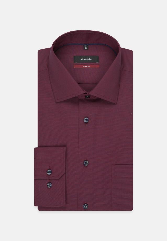 Bügelfreies Fil a fil Business Hemd in Modern mit Kentkragen in Rot |  Seidensticker Onlineshop