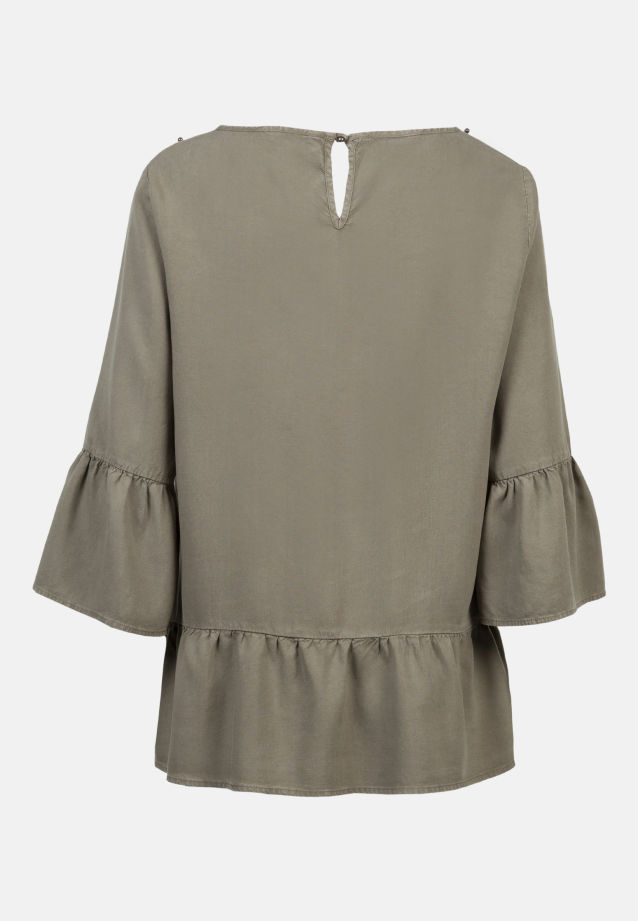 3/4 arm Poplin Shirt Blouse made of 100% Lyocell in khaki |  Seidensticker Onlineshop