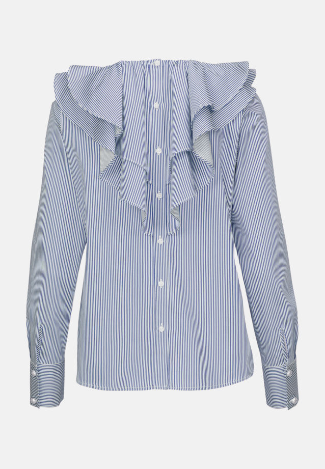 Poplin Ruched Blouse made of 100% Cotton in Medium blue |  Seidensticker Onlineshop