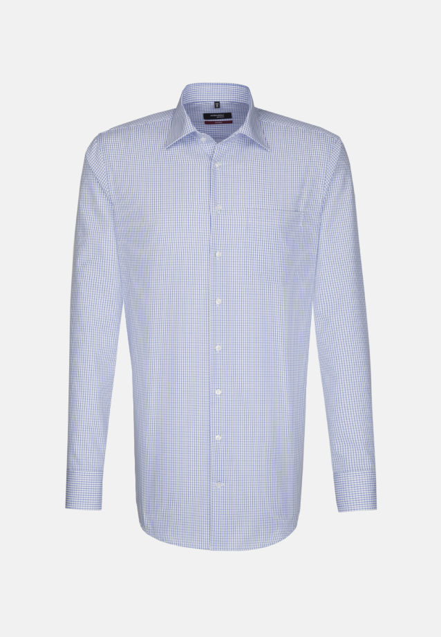 Non-iron Poplin Business Shirt in Regular with Kent-Collar in Mittelblau |  Seidensticker Onlineshop