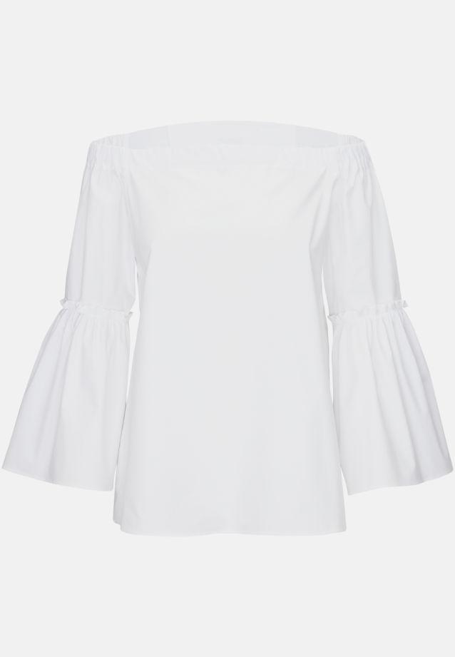 Popeline Carmenbluse aus 97% Baumwolle 3% Elastan in Weiß |  Seidensticker Onlineshop