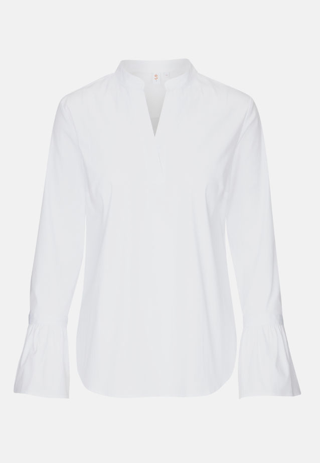 Poplin Slip Over Blouse made of 81% Cotton 16% Polyamid/Nylon 3% Elastane in White |  Seidensticker Onlineshop