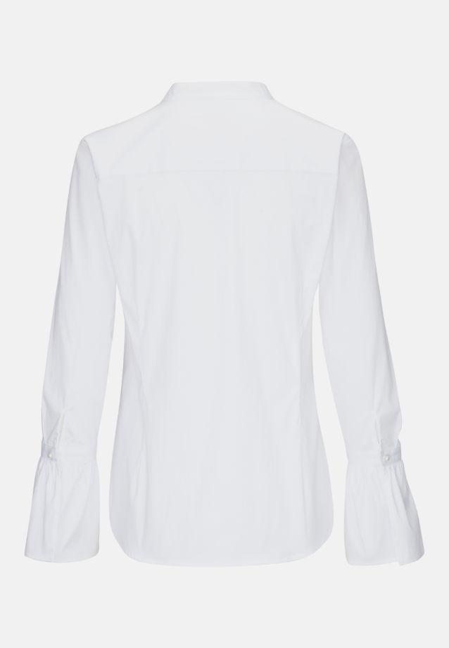 Poplin Slip Over Blouse made of 81% Cotton 16% Polyamid/Nylon 3% Elastane in optical white |  Seidensticker Onlineshop