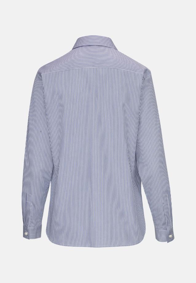 Popeline Schlupfbluse aus 100% Baumwolle in Mittelblau |  Seidensticker Onlineshop