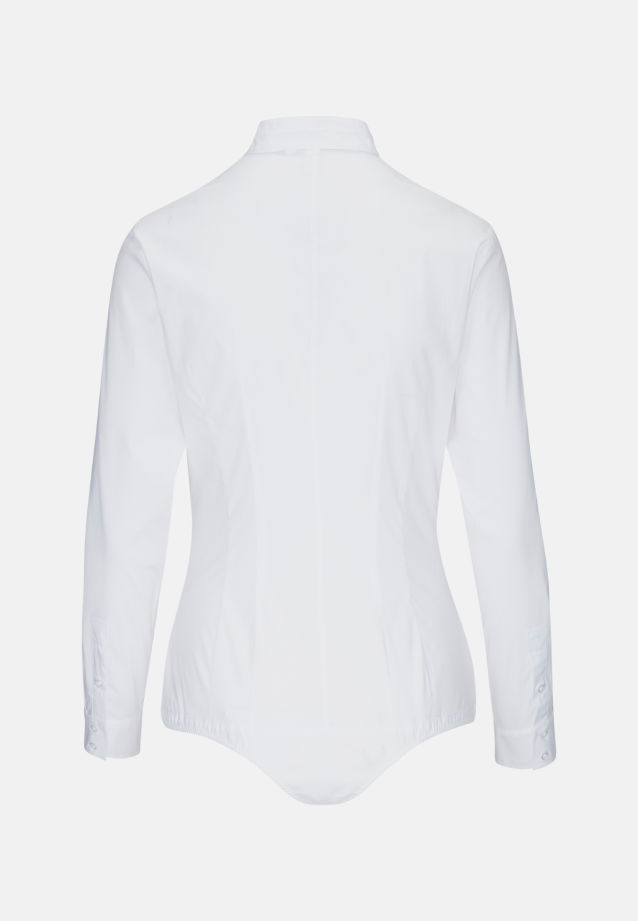Popeline Bodybluse aus Baumwollmischung in Weiß |  Seidensticker Onlineshop