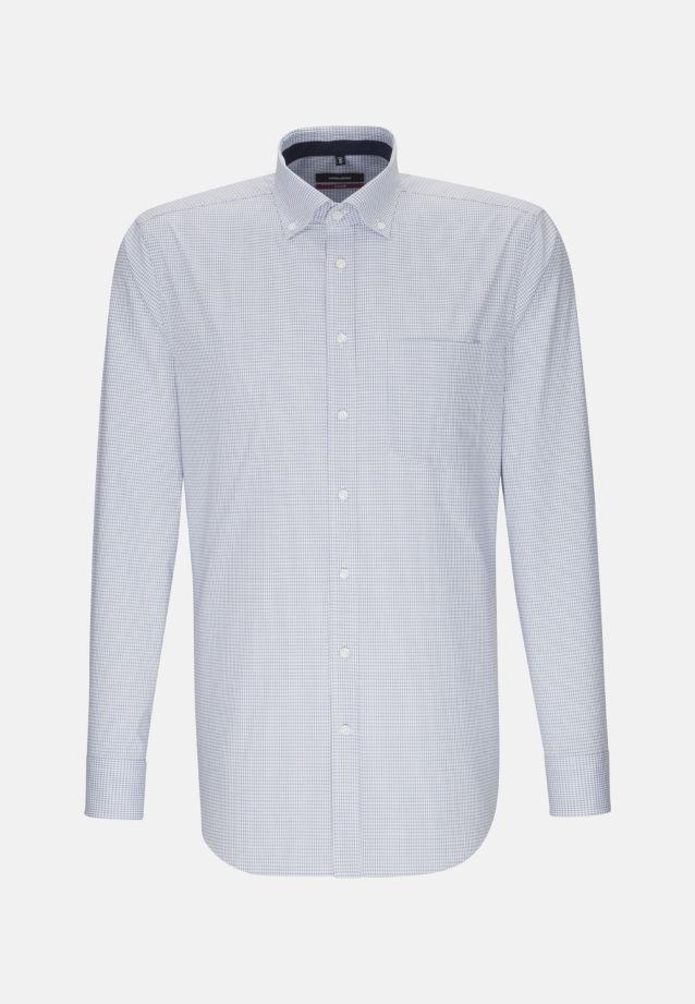 Bügelfreies Popeline Business Hemd in Modern mit Button-Down-Kragen in Hellblau |  Seidensticker Onlineshop