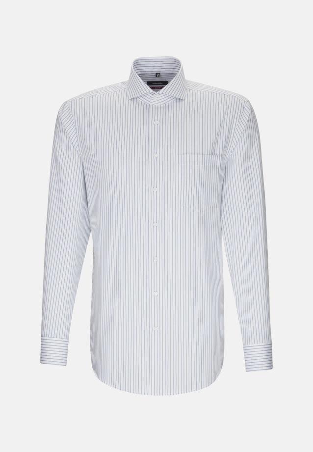 Bügelfreies Twill Business Hemd in Modern mit Haifischkragen in Hellblau |  Seidensticker Onlineshop