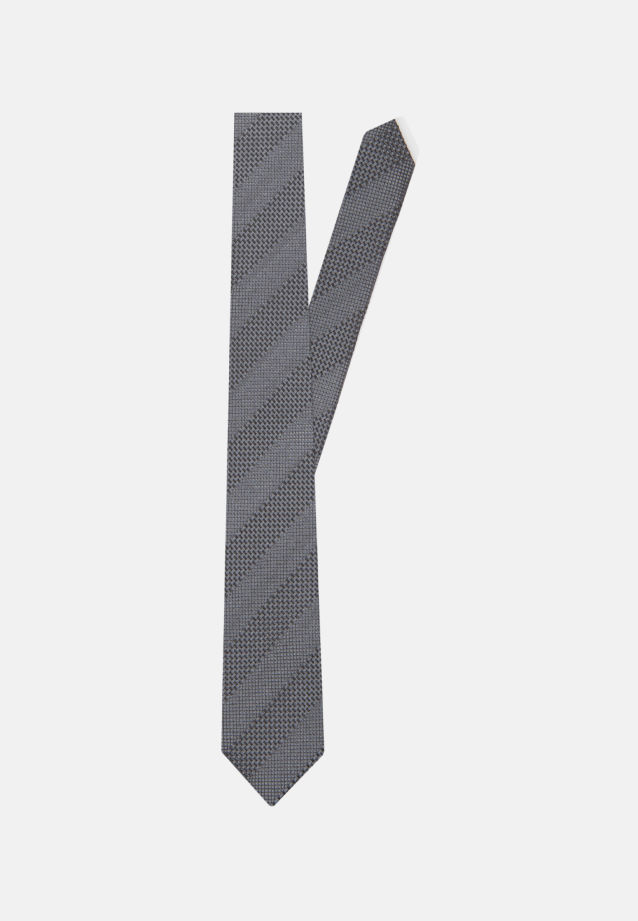 Tie made of 100% Silk 5 cm wide in Grey |  Seidensticker Onlineshop