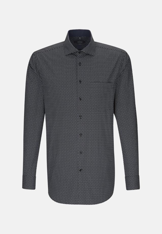 Easy-iron Poplin Business Shirt in Comfort with Kent-Collar in grau |  Seidensticker Onlineshop