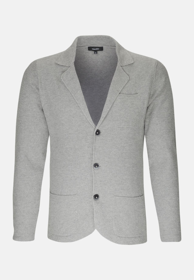Jacket made of cotton blend in Grey |  Seidensticker Onlineshop