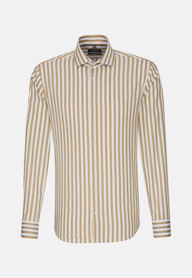 Bügelfreies Twill Business Hemd in Tailored mit Kentkragen in Braun |  Seidensticker Onlineshop