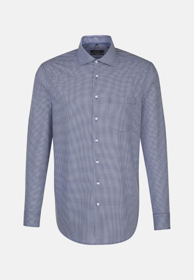 Bügelfreies Popeline Business Hemd in Comfort mit Kentkragen in blau    Seidensticker Onlineshop