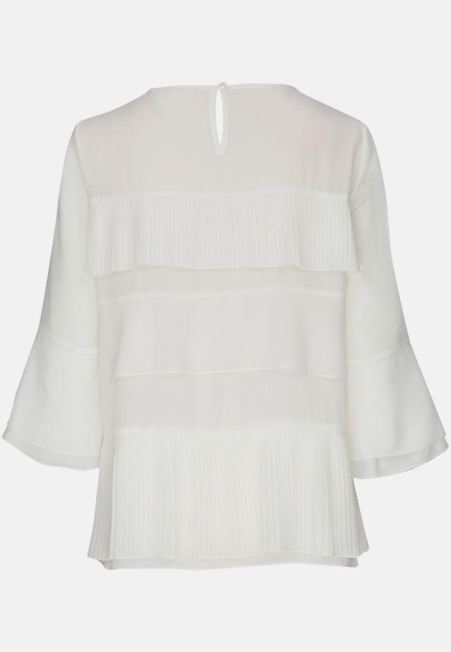 3/4 arm Chiffon Shirt Blouse aus 100% Polyester in offwhite |  Seidensticker Onlineshop