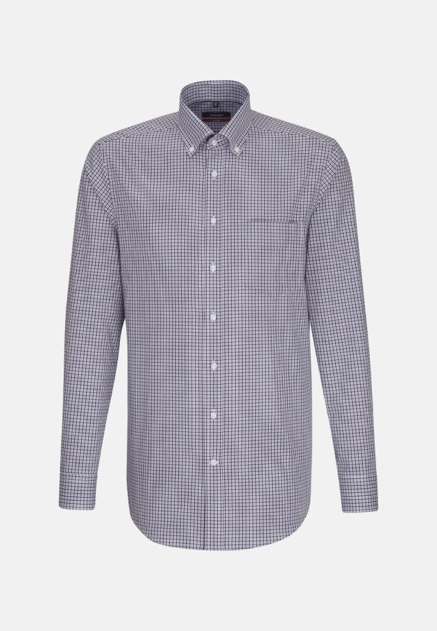 Non-iron Poplin Business Shirt in Modern with Button-Down-Collar in lila |  Seidensticker Onlineshop