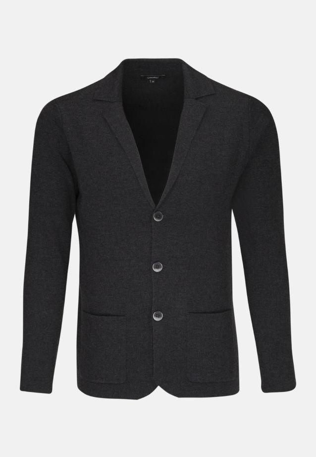 Collar Jacket made of 45% Wolle 43% Polyacryl 10% Polyamid/Nylon 2% Elastane in anthra    Seidensticker Onlineshop