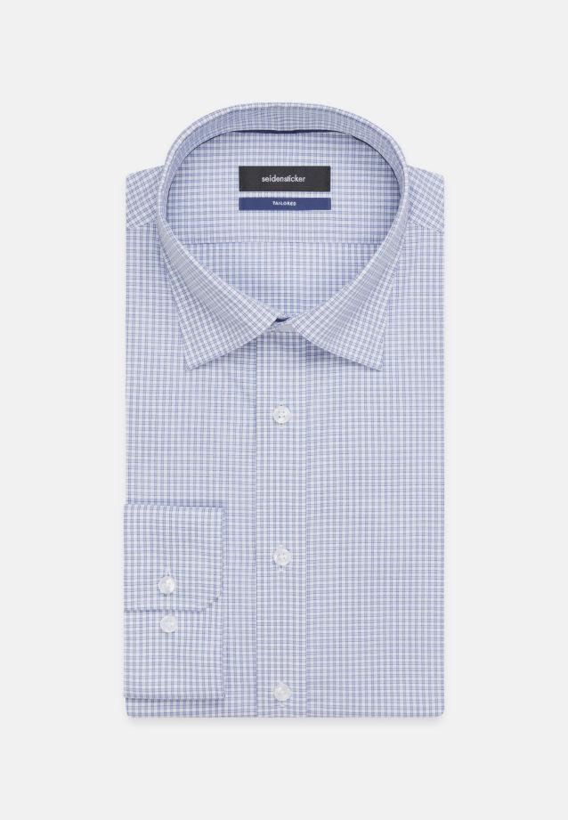 Bügelfreies Popeline Business Hemd in Shaped mit Covered-Button-Down-Kragen in Hellblau    Seidensticker Onlineshop
