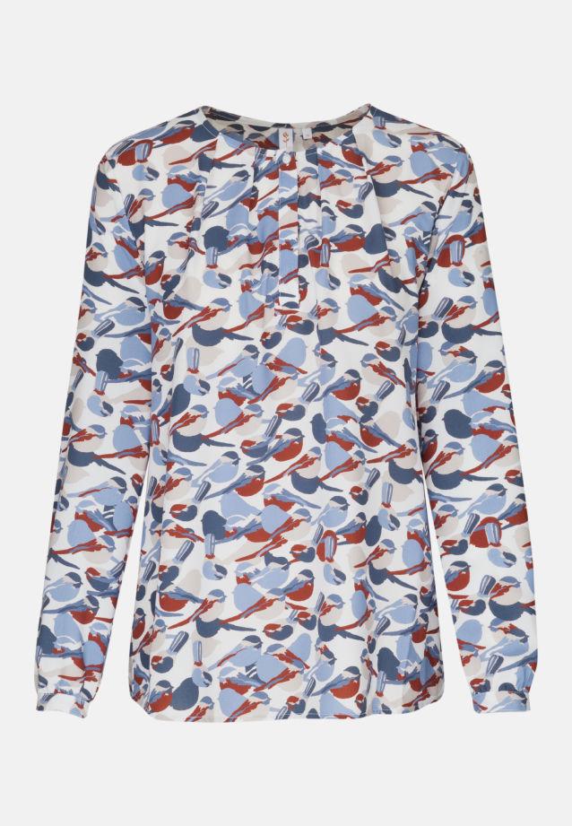 Voile Shirtbluse aus 100% Viskose in weiß-blau |  Seidensticker Onlineshop