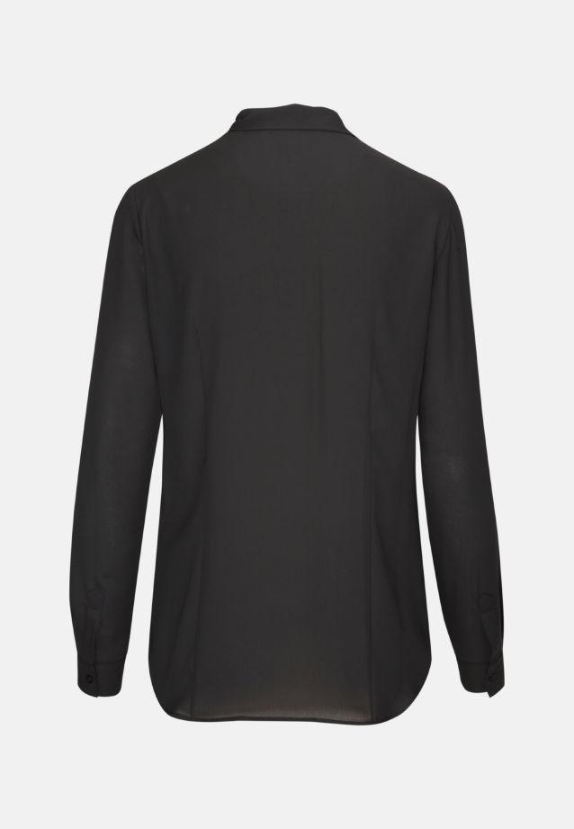 Chiffon Schluppenbluse aus 100% Polyester in Schwarz |  Seidensticker Onlineshop